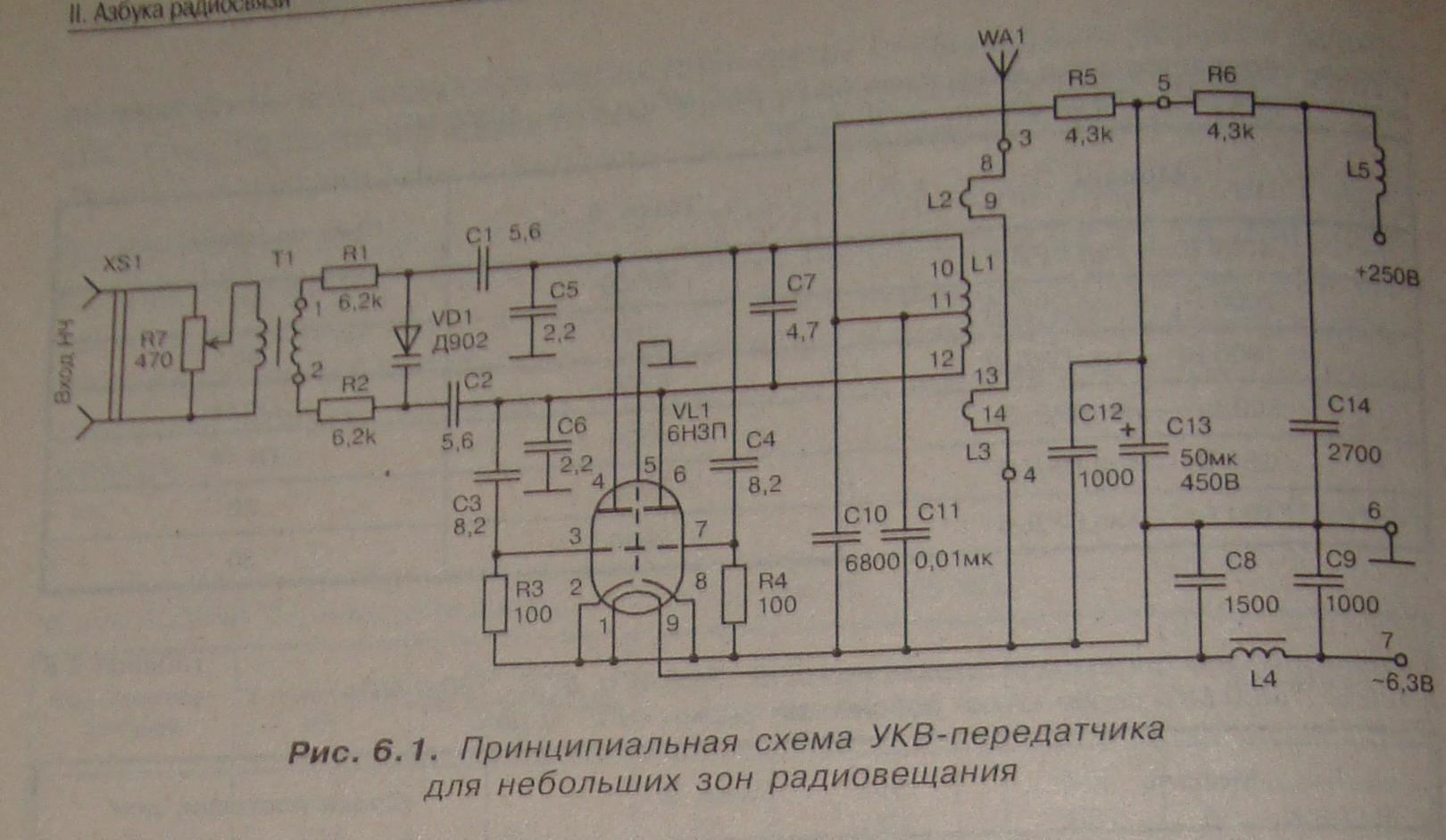 Передатчик схема кв диапазона