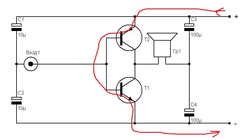 Простые схемы усилителей колонок