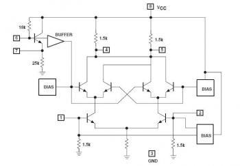 А вот схема SA612...  Данная схема балансная по отношению и к сигналу