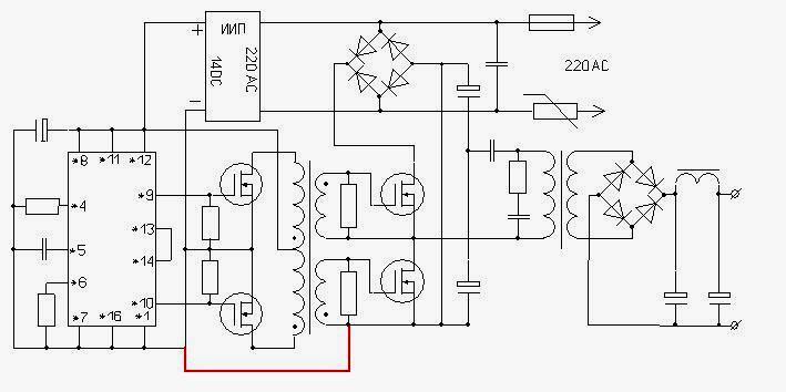 Схема сетевого блока питания на tl494
