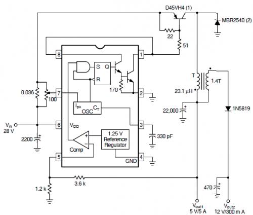 схема mc34063a - Практическая схемотехника.