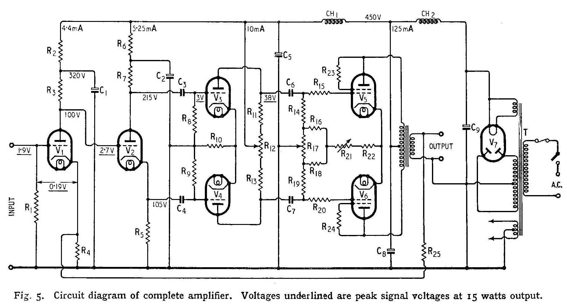 Ламповый усилитель вильямсона схема