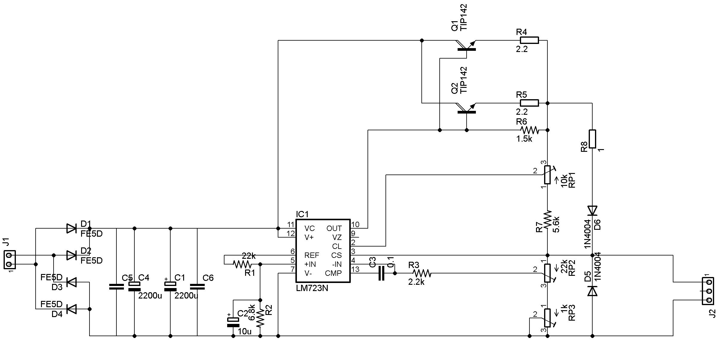 Схема блока питания 1501