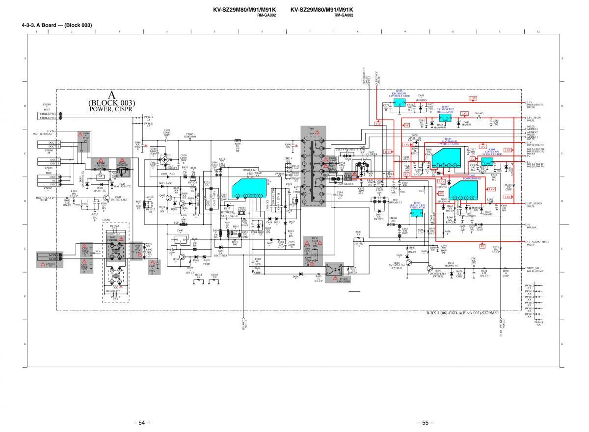 Схема телевизоров sony kv-21lt1k