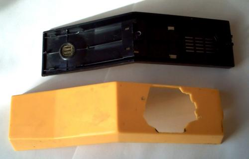 Крепление дискового номеронабирателя SA2 на корпусе трубки.