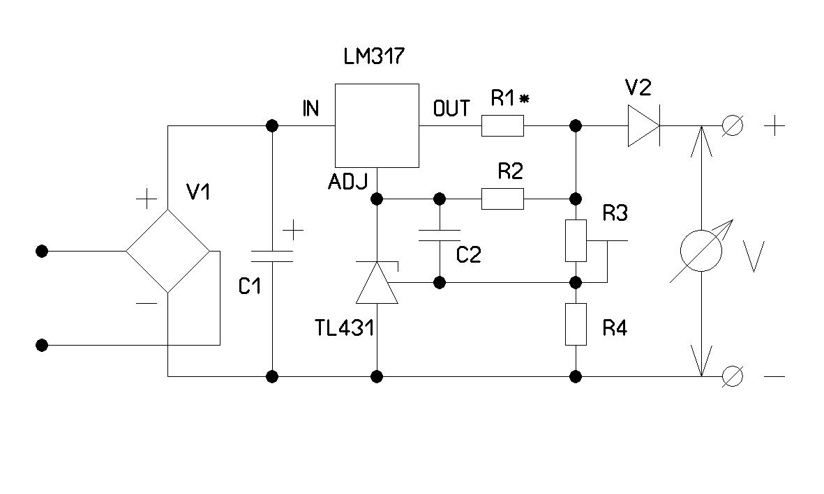 схема зарядки от шуруповёрта