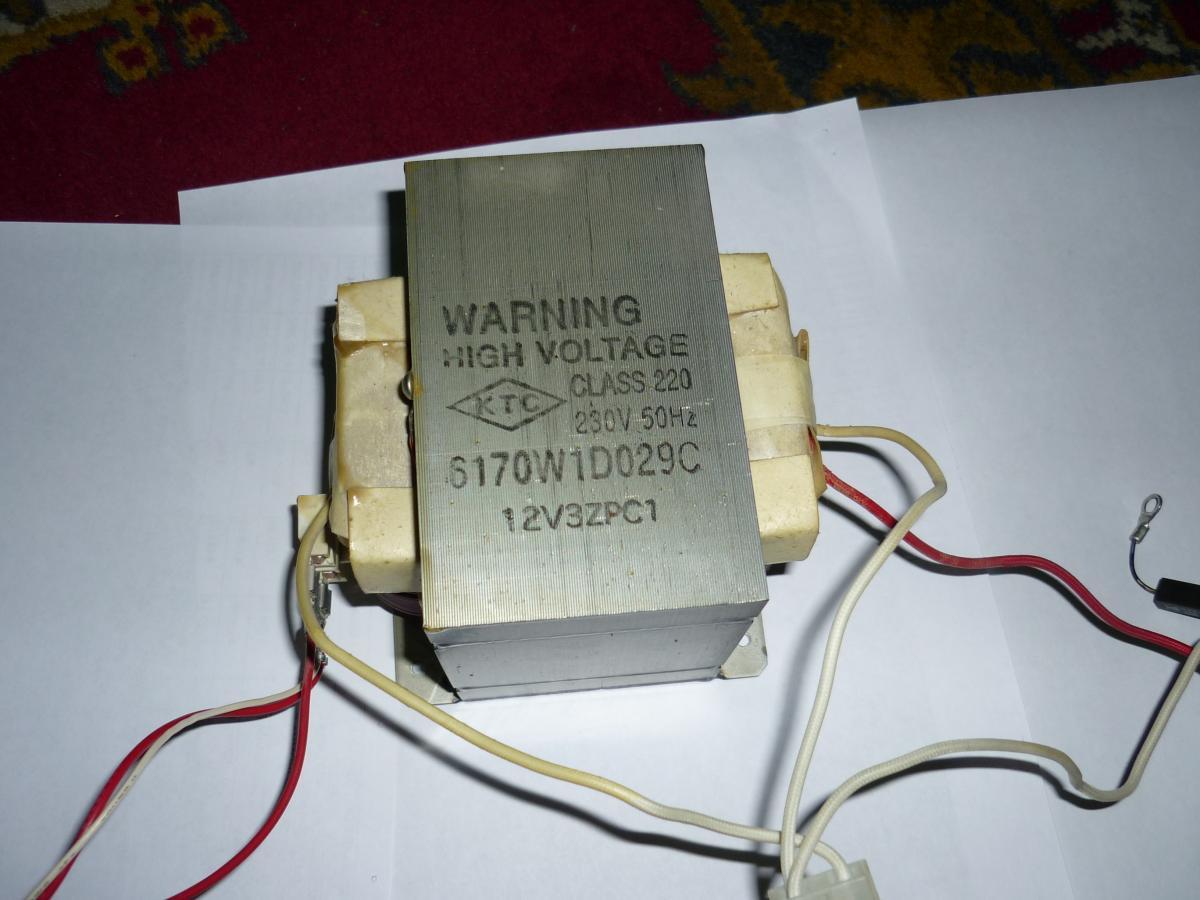 схема подключения трансформатора микроволновой печи