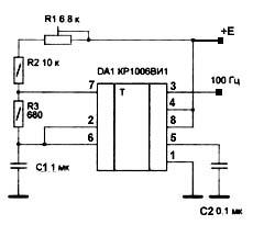 Схема подмотка на не555