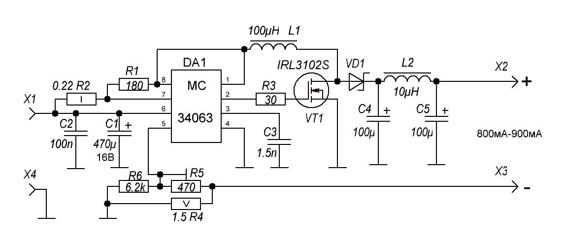 Схемы драйверов для мощных светодиодов от сети 220в
