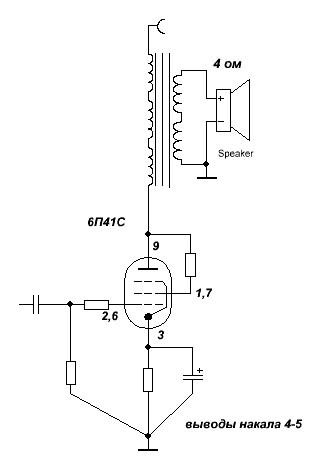 Усилитель На 6П41С - опубликовано в Ламповая техника: Хочу собрать етот усилитель: http://elwo.ru/publ...