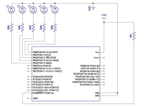 Что имею:1. Микроконтроллер ATmega48 в корпусе DIP28.  2. Внутрисхемный программатор Miniprog.  3.