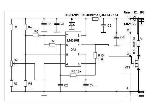 схема регулятор мощности от 0 до 100 слой сделан синтетики