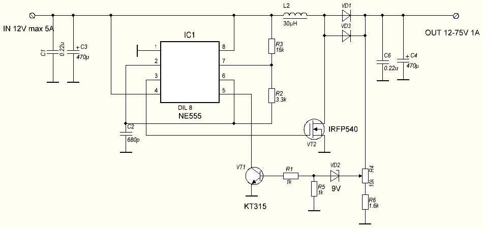 регулятор напряжения 12 вольт на ne555