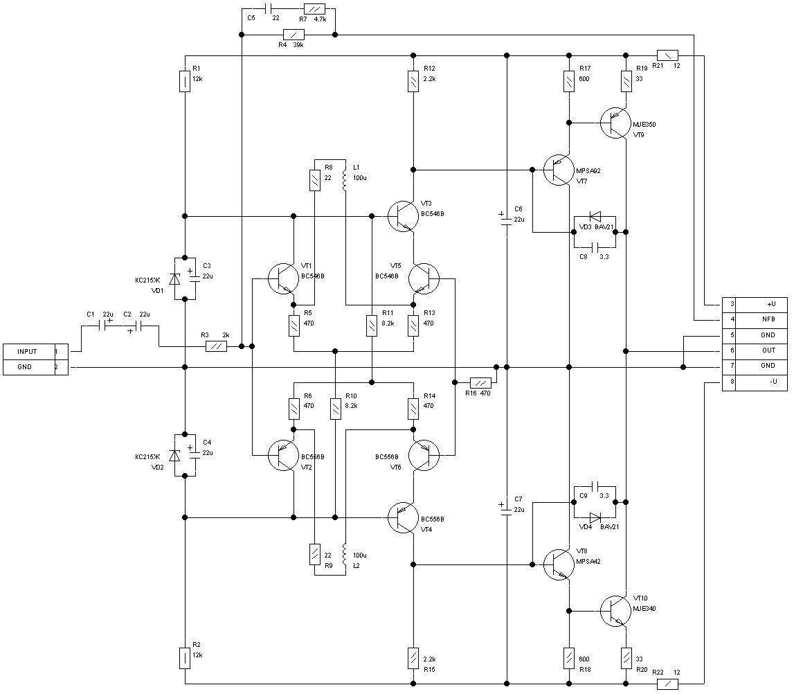 Высококачественный транзисторный усилитель своими руками 3