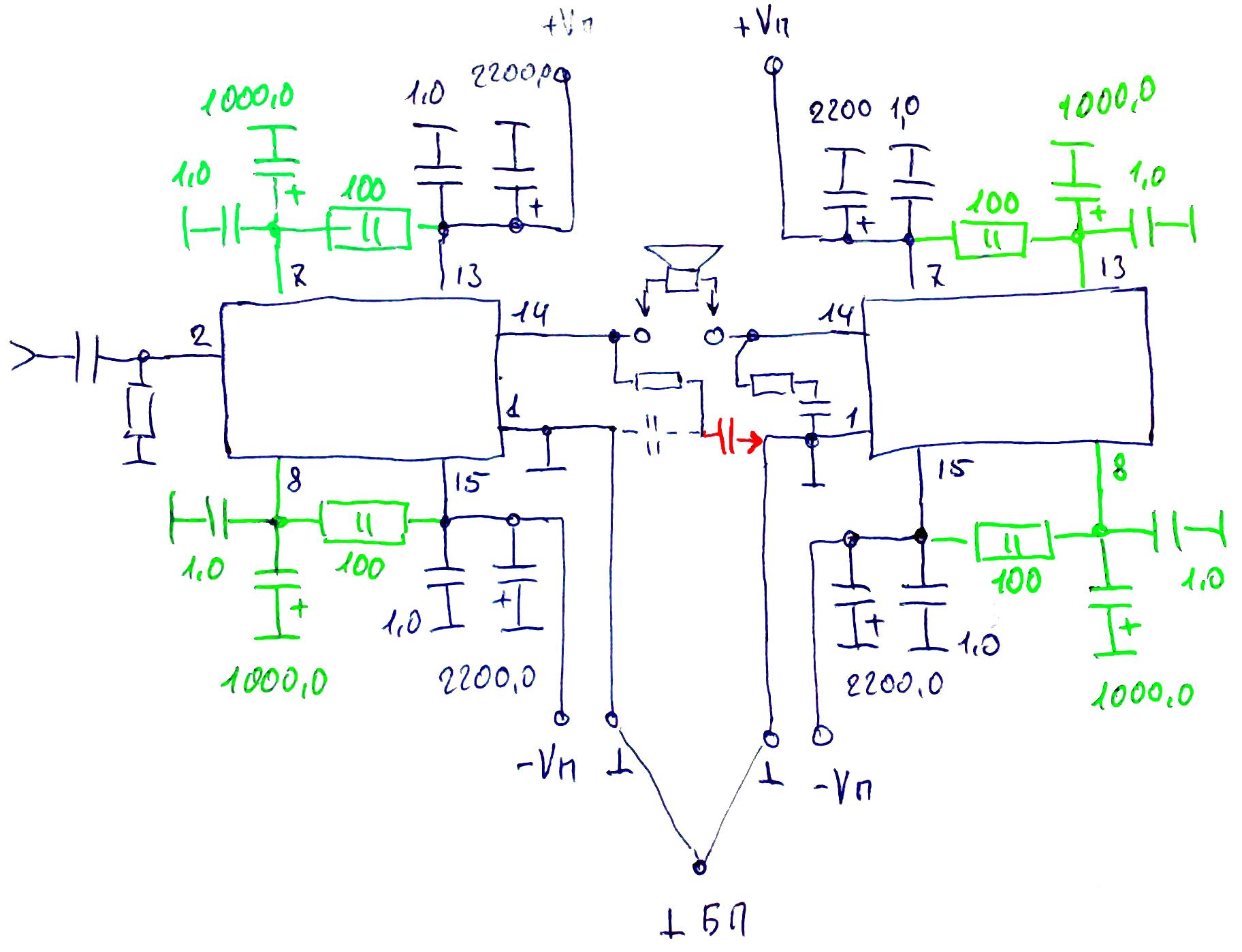 Lm1036n печатная схема