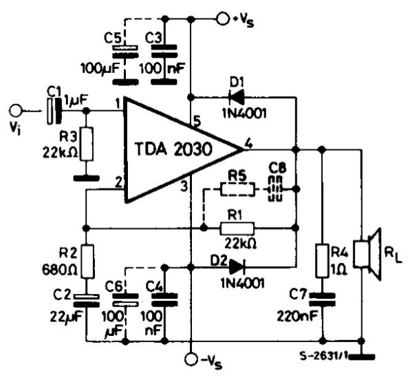 Усилитель на тда2050 греется микросхема