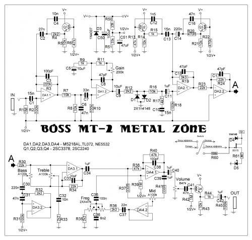 гитарная электроника схемы