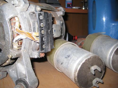 Схема подключения двигателя стиральной машины.