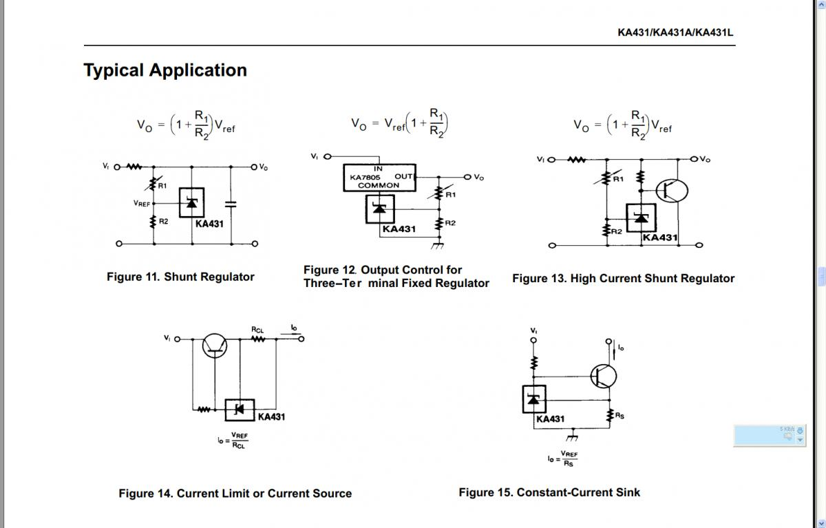 KA431Application Circuits.