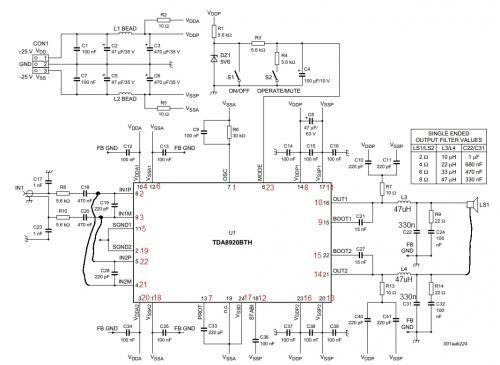 Есть Ли У Кого Нибудь Готовая Схема Для Tda8920Bj? - опубликовано в Начинающим: кроме bth ничего...