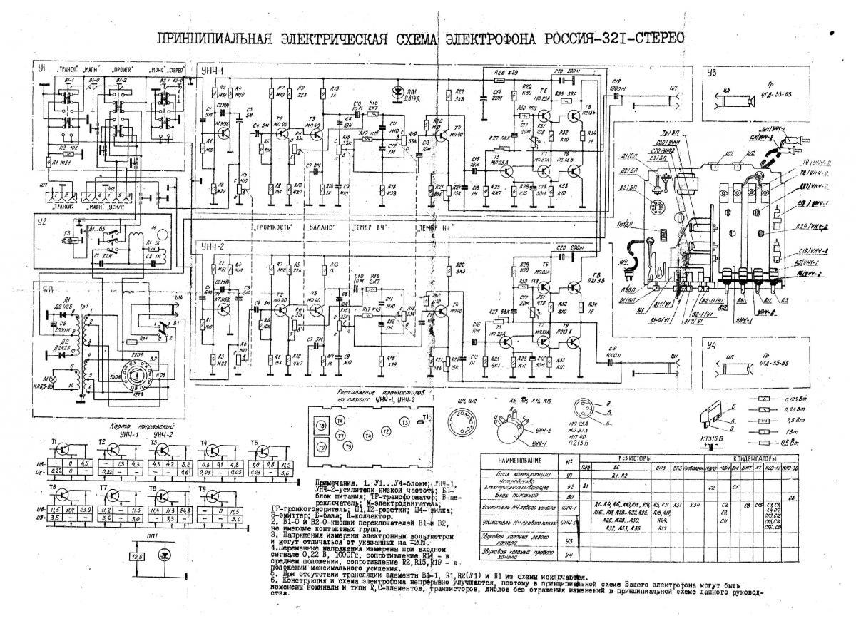 Схема россия-321 стерео