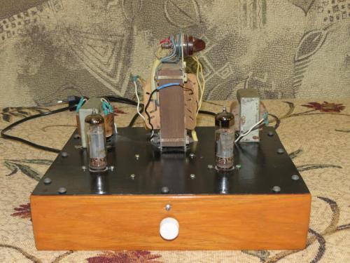 Ламповый усилитель из старого телевизора