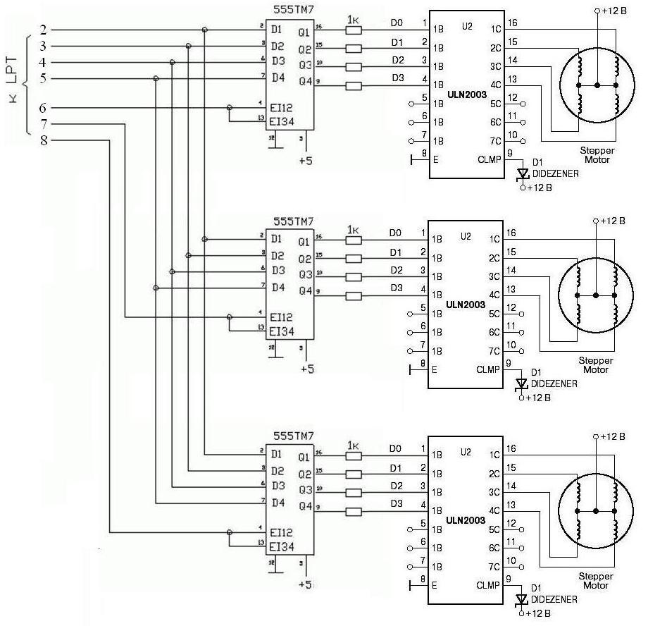 Драйвер шагового двигателя схема чпу