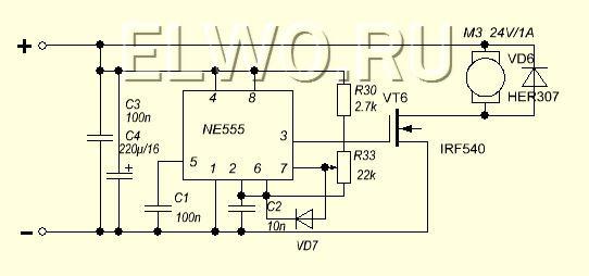 Схема регулятора оборотов электродвигателя 12в своими руками