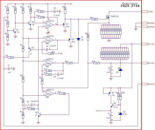Схема коммутатора 0529.3734.