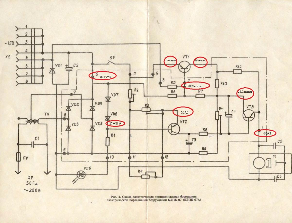 Регулятор бормашины схема