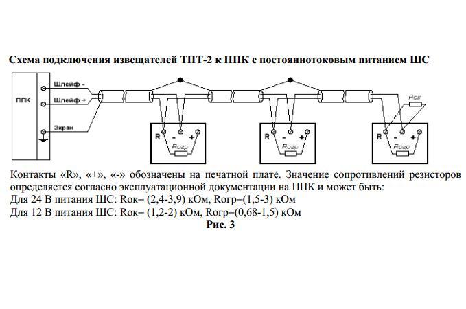 Схема подключения геркона и датчиков разбития стекла