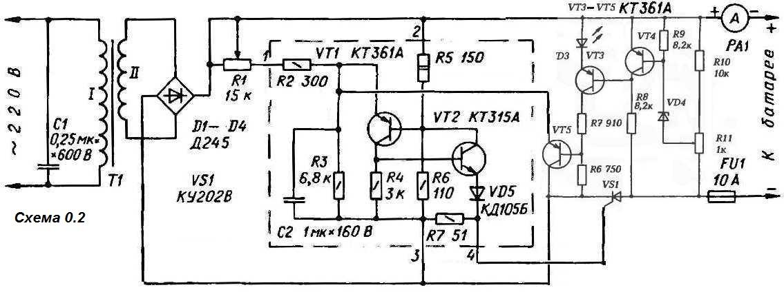 Схемы автоматики на тиристорах