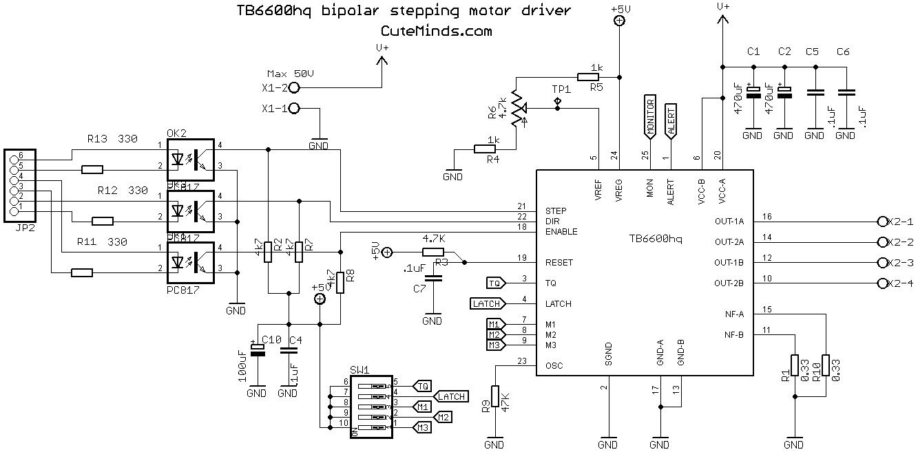 драйвер шаговые двигатели схема
