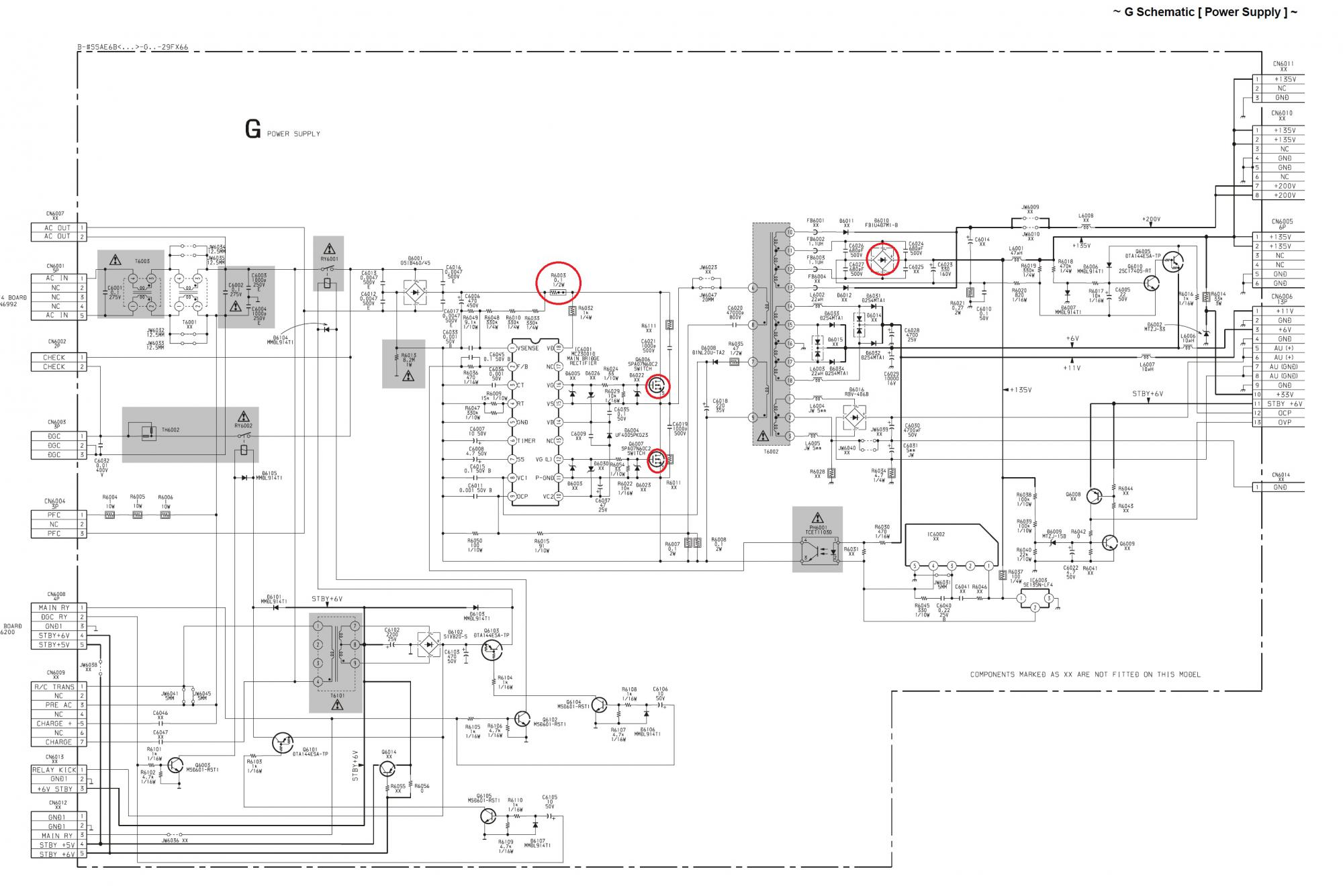 Схема телевизора sony kv 29fx66e