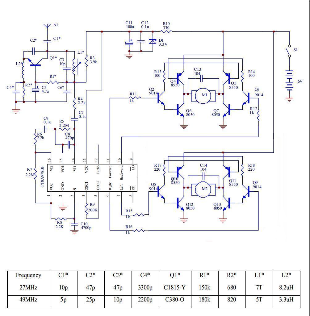 Схемы радиоуправления на контроллерах