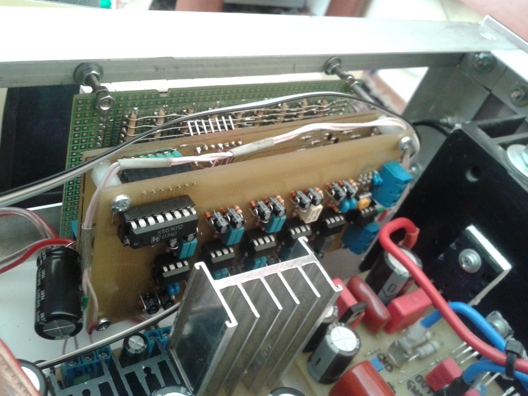 спектроанализатор на 7 столбцов схема