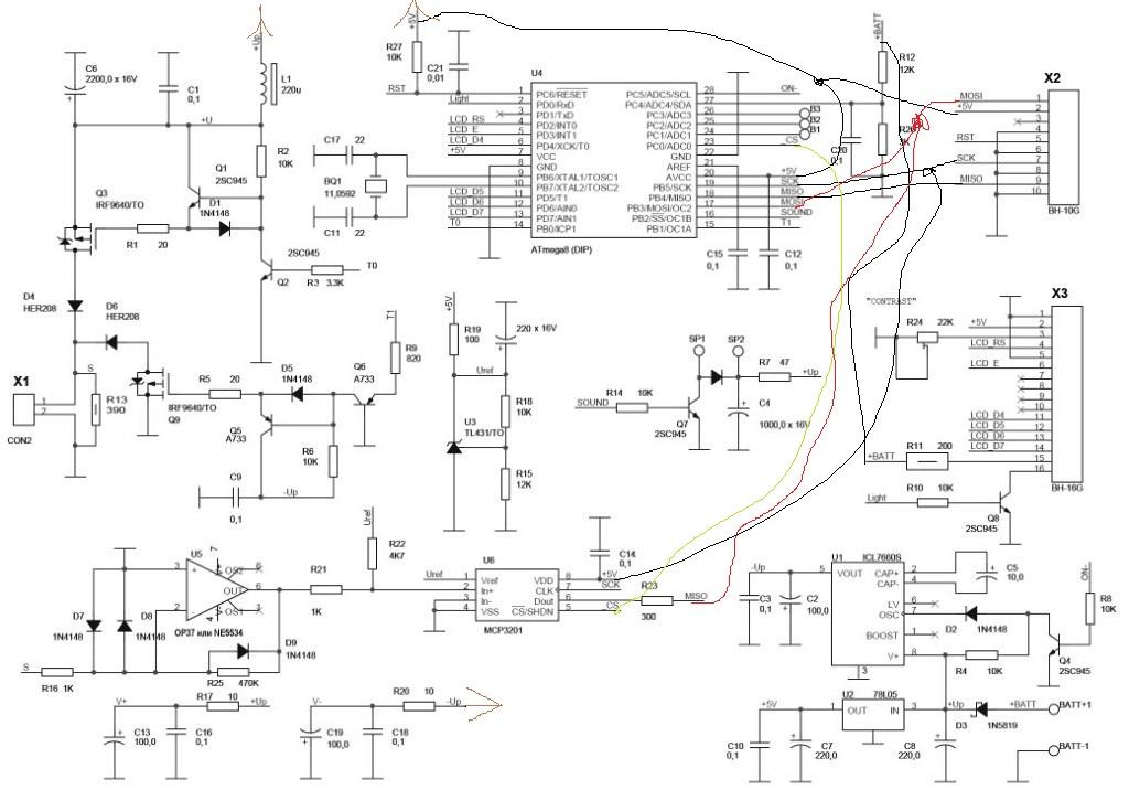 Схема на atmega8