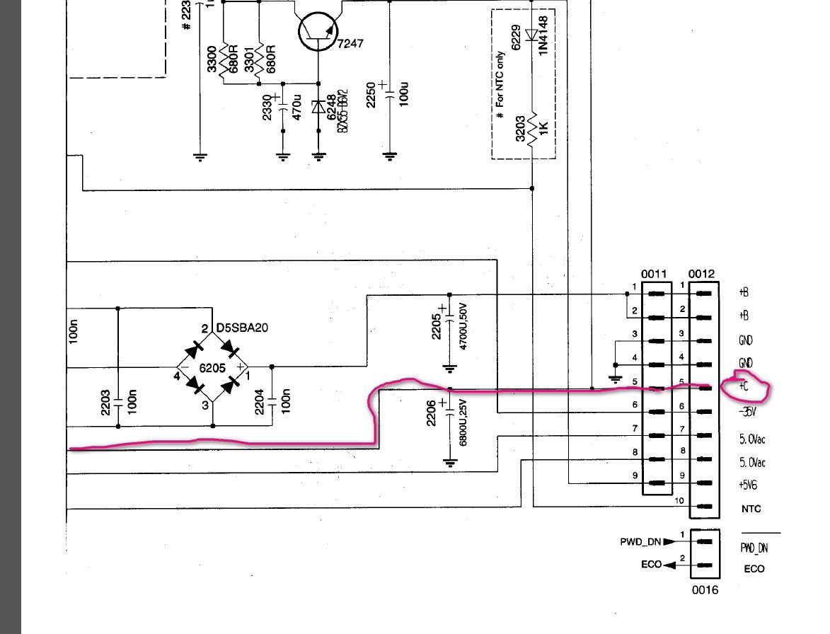 Philips d596 схема