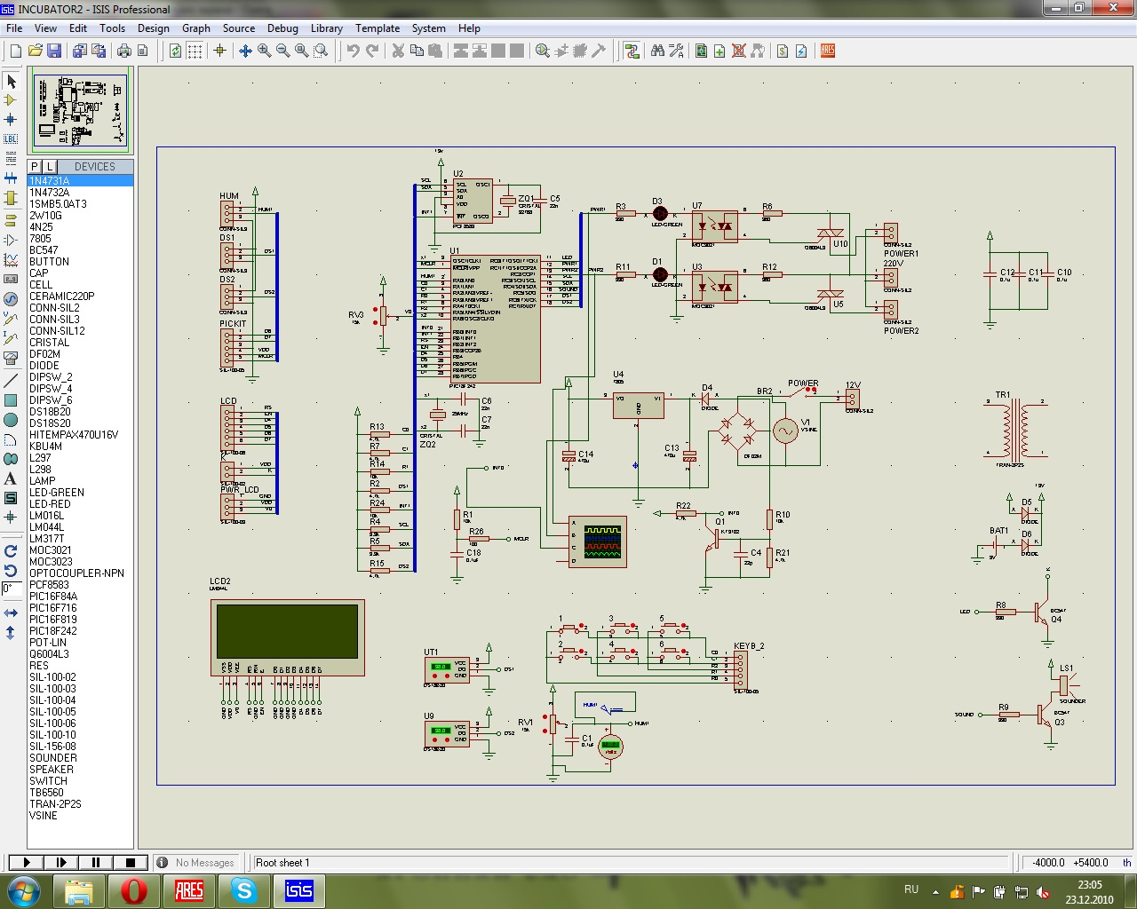 схема для терморегулятора инкубатор