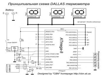 Цифровой термометр на DS18B20. материал из раздела.  Дата.