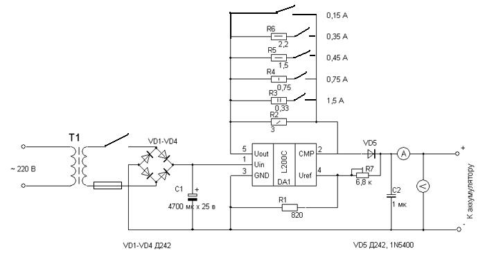 для акб зарядки схема гелевых