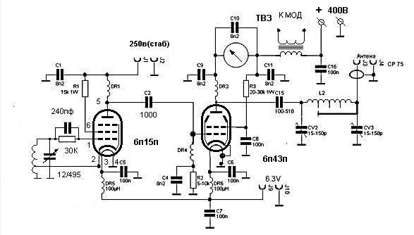 Передатчики схемы 3мгц