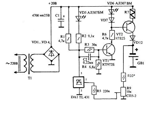 Схемы отечественных зарядных устройств