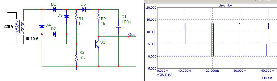 Zero Crossing Detector ZCD: Comparator circuit using