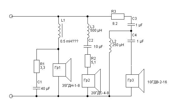 Схема фильтра колонки с 50