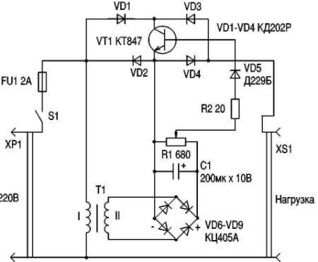 """В нескольких номерах журнала  """"Радиоаматор """" были напечатаны схемы регуляторов сетевого напряжения на тиристорах..."""