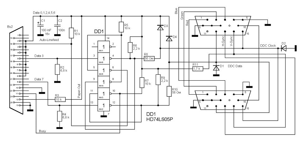 Схема блока питания монитора 710n