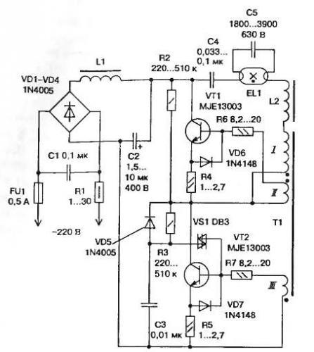 диодом Схема электронного