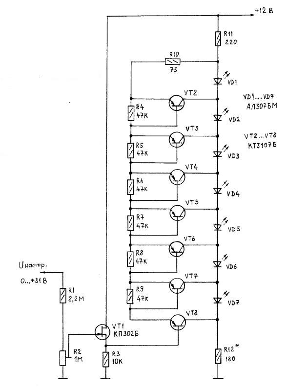 Амперметр на светодиодах своими руками схема фото 168
