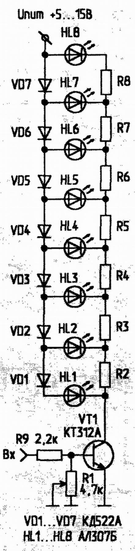 Амперметр на светодиодах своими руками схема фото 939